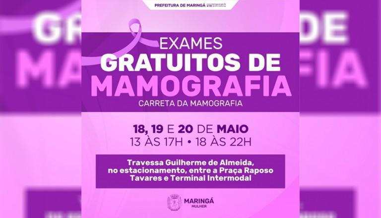 Maringá oferecerá mamografia gratuita a mulheres esta semana