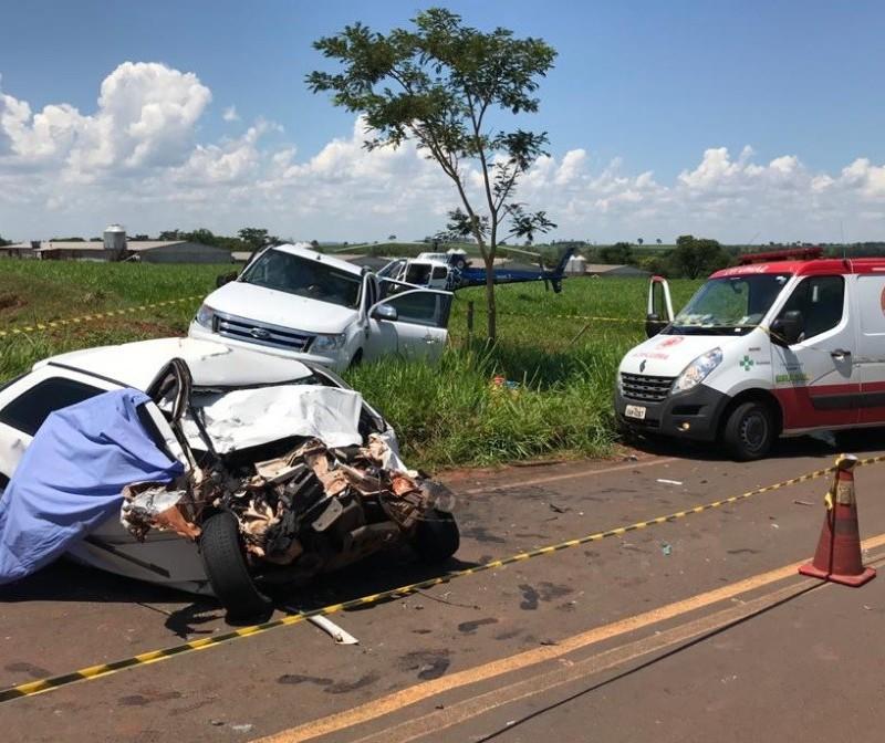 Duas pessoas morrem em acidente na PR-340