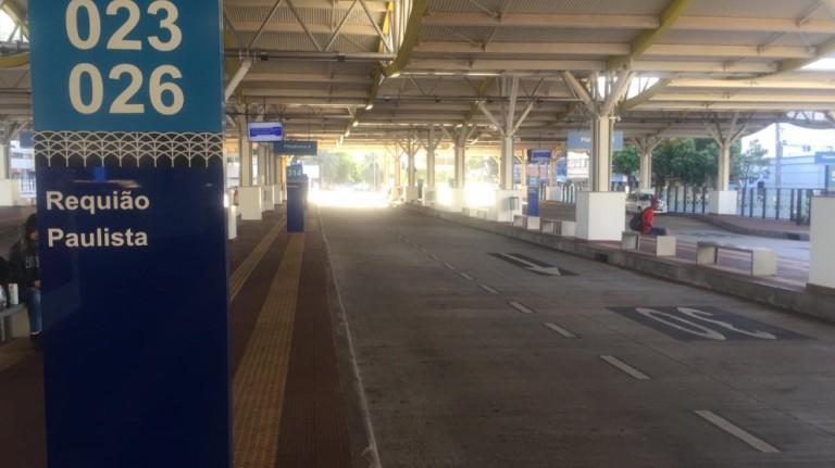 Pelo segundo dia consecutivo, terminal urbano de Maringá amanhece vazio