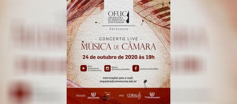 Orquestra Filarmônica Unicesumar realiza concerto online