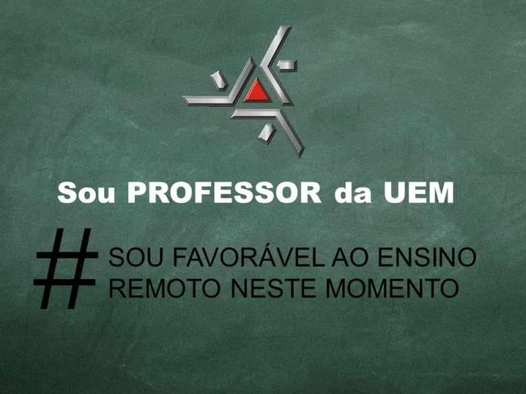 Favoráveis ao ensino remoto na UEM criam campanha de mobilização