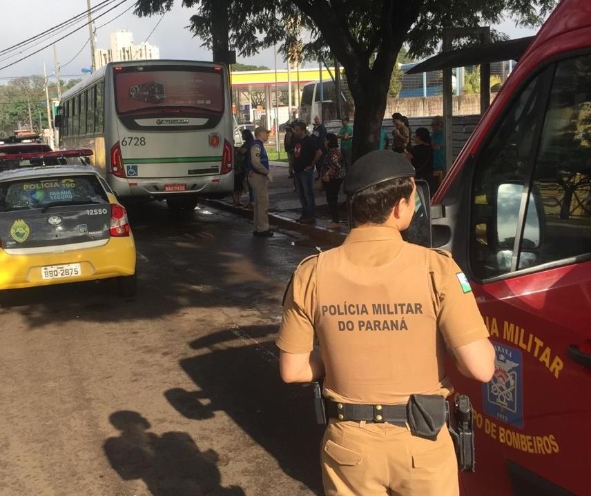Idosa morre após ser atropelada por ônibus do transporte coletivo em Maringá