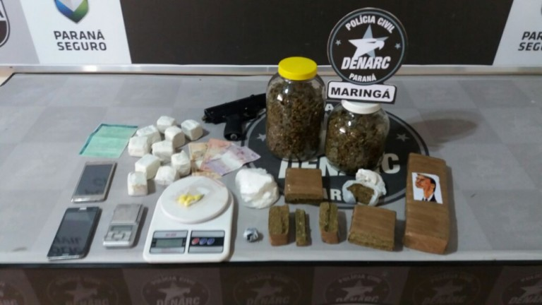 Dupla suspeita de fazer 'disque entrega' de drogas em Maringá é presa