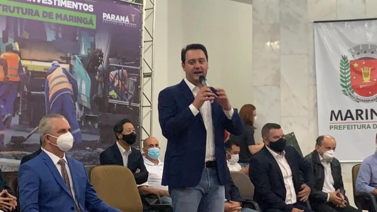 No aniversário de Maringá, governador vem à cidade e anuncia investimentos