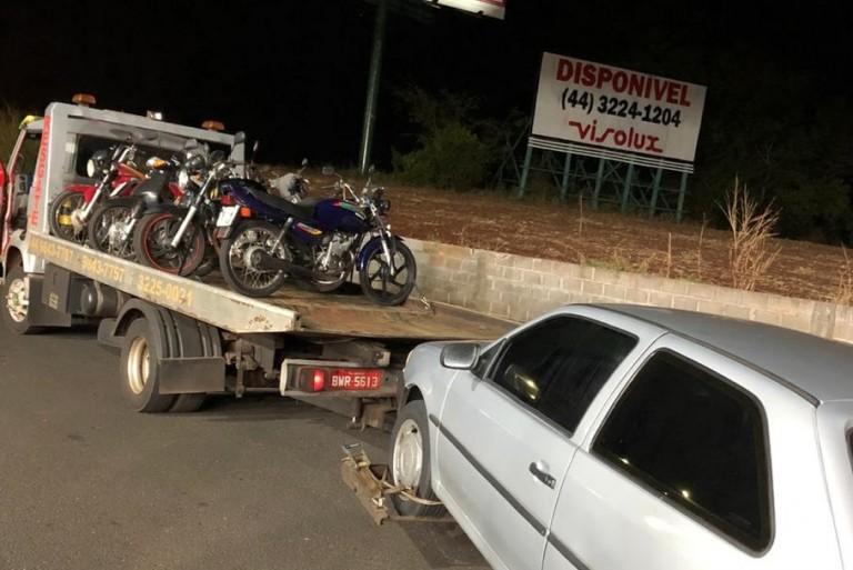 Em quatro horas de fiscalização, 24 motoristas e passageiros são flagrados sem cinto de segurança