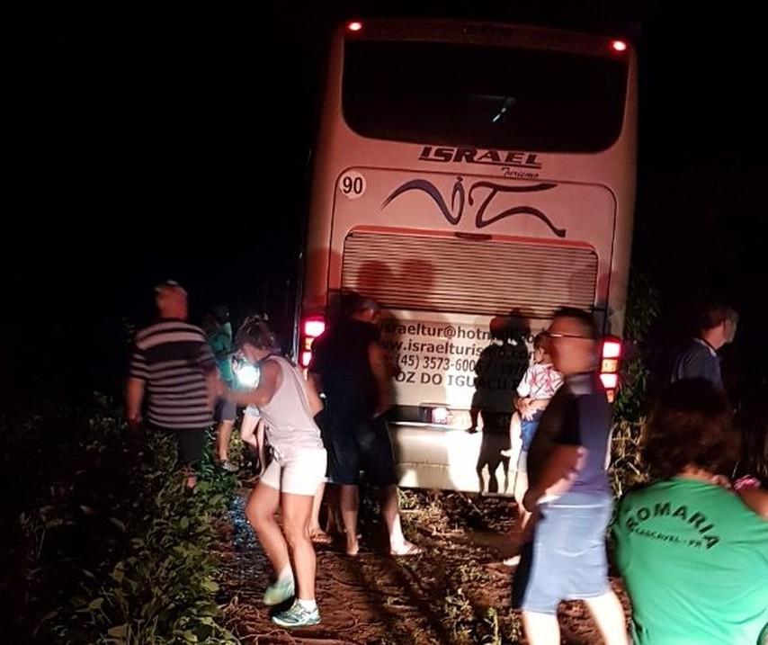Ladrões erram e assaltam ônibus de romeiros na BR-369
