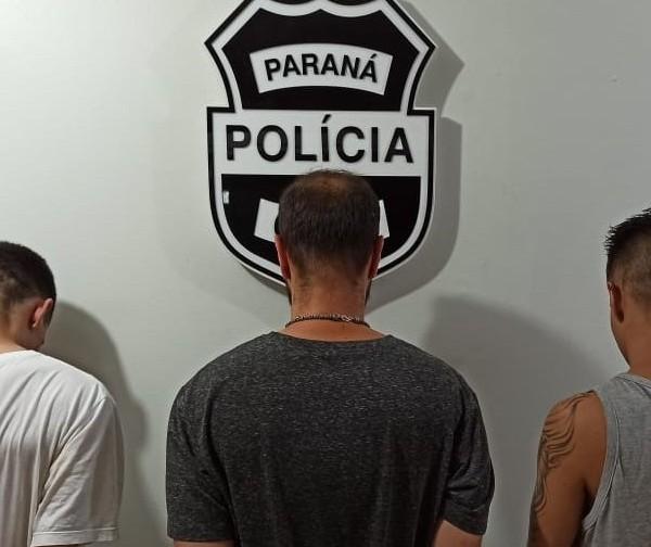 Para polícia, trio preso é responsável pelo arrombamento de prédio em Maringá