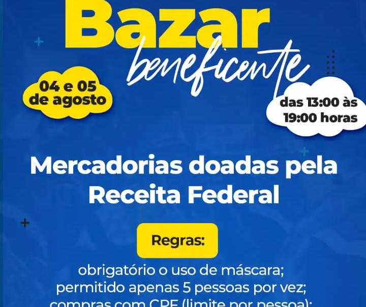 Projeto social de Maringá realiza bazar com produtos doados pela Receita Federal