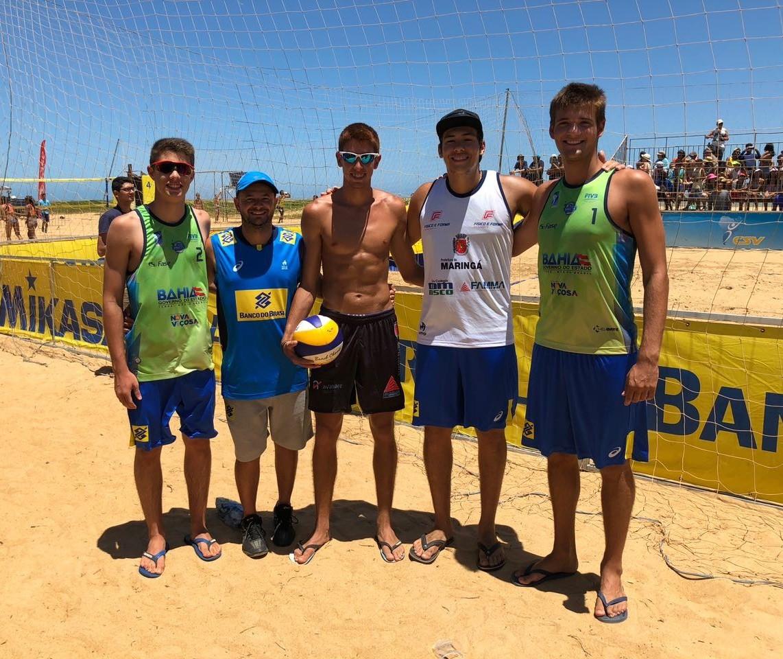 Maringaenses participam de competição internacional de vôlei de praia