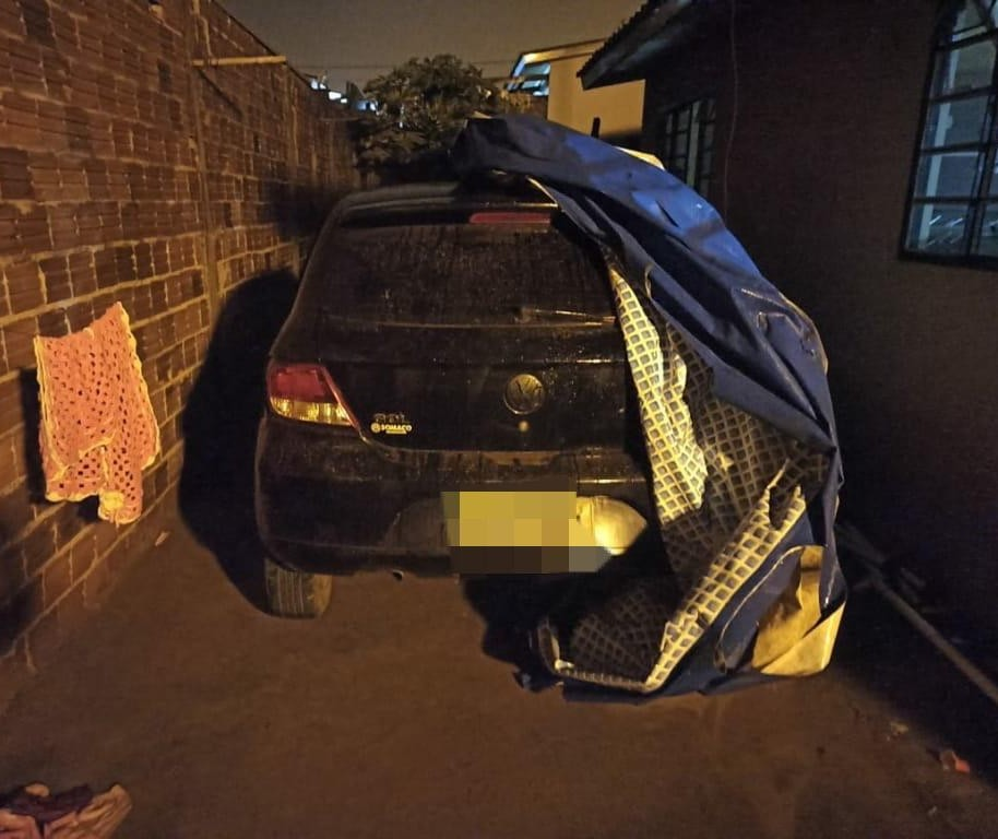 Equipe da Rotam de Sarandi encontra veículo usado em crime
