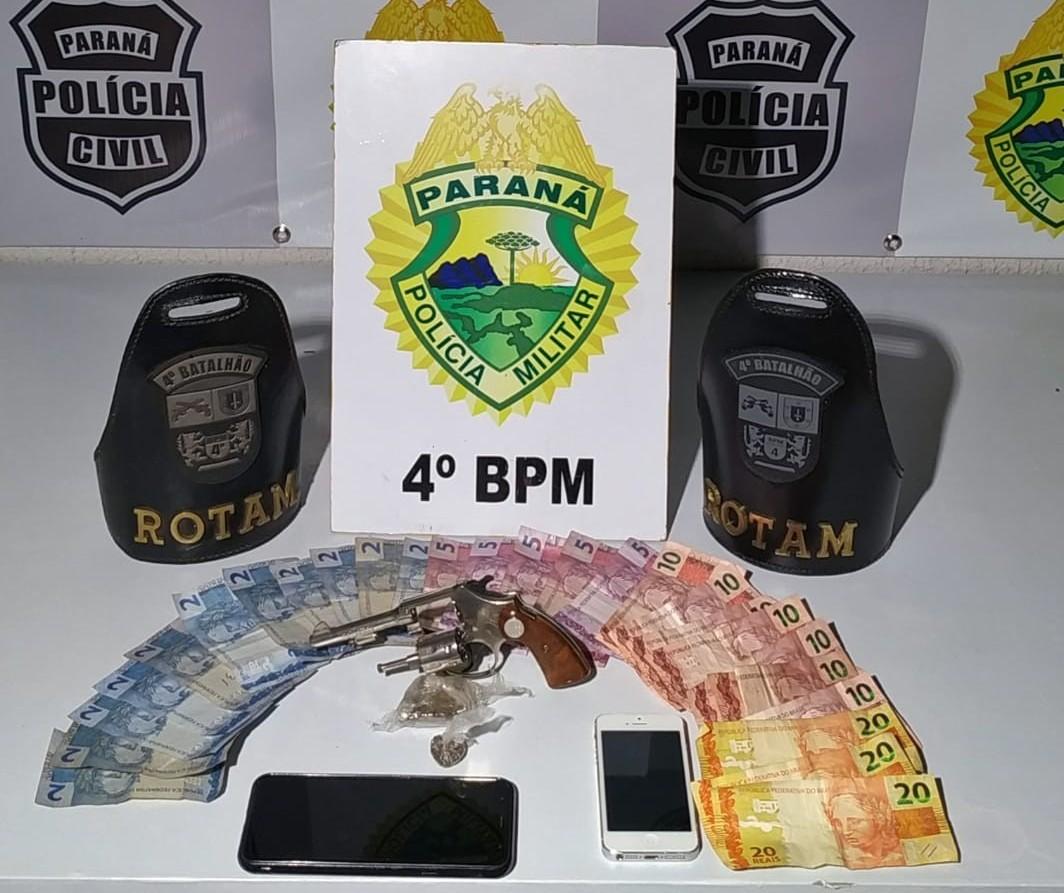 Tio e sobrinho são presos por tráfico de drogas no Conjunto Requião