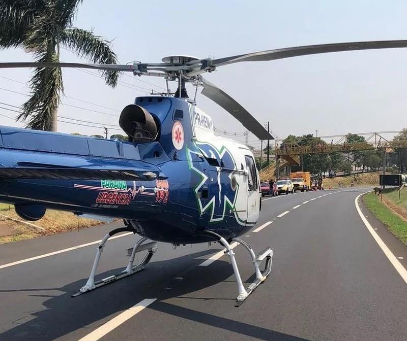 Vítimas de acidente com moto esportiva em Mandaguaçu são identificadas