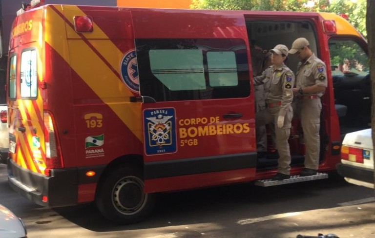 Princípio de incêndio com gás inflamável é controlado em Maringá