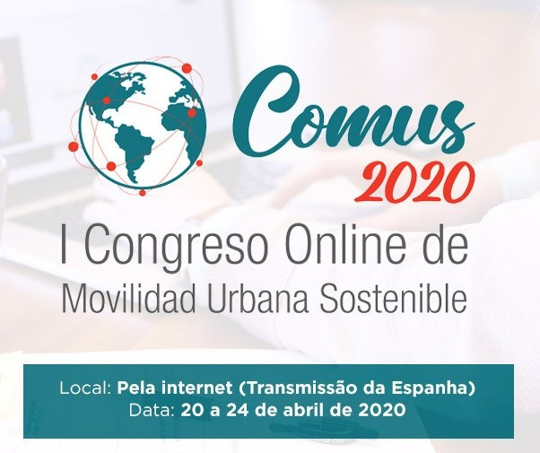 Primeiro Congresso de Mobilidade Urbana Sustentável Online será de 20 a 24 de abril