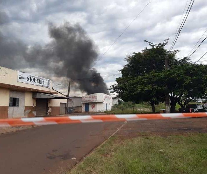 Explosão em empresa de oxigênio de Maringá mobiliza bombeiros