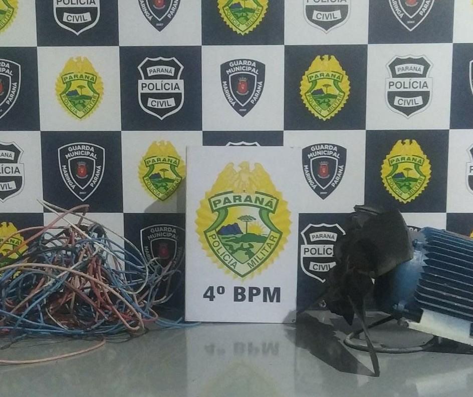 Polícia prende ladrão e receptador de fios de cobre em Maringá