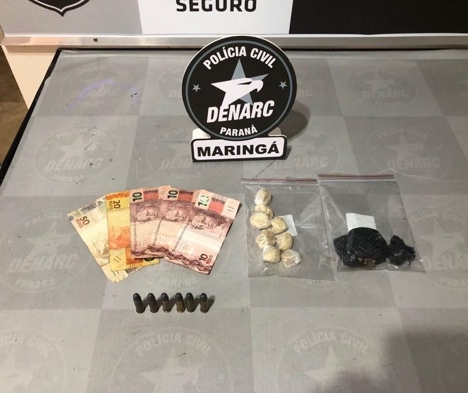 Casal suspeito de tráfico de drogas é preso