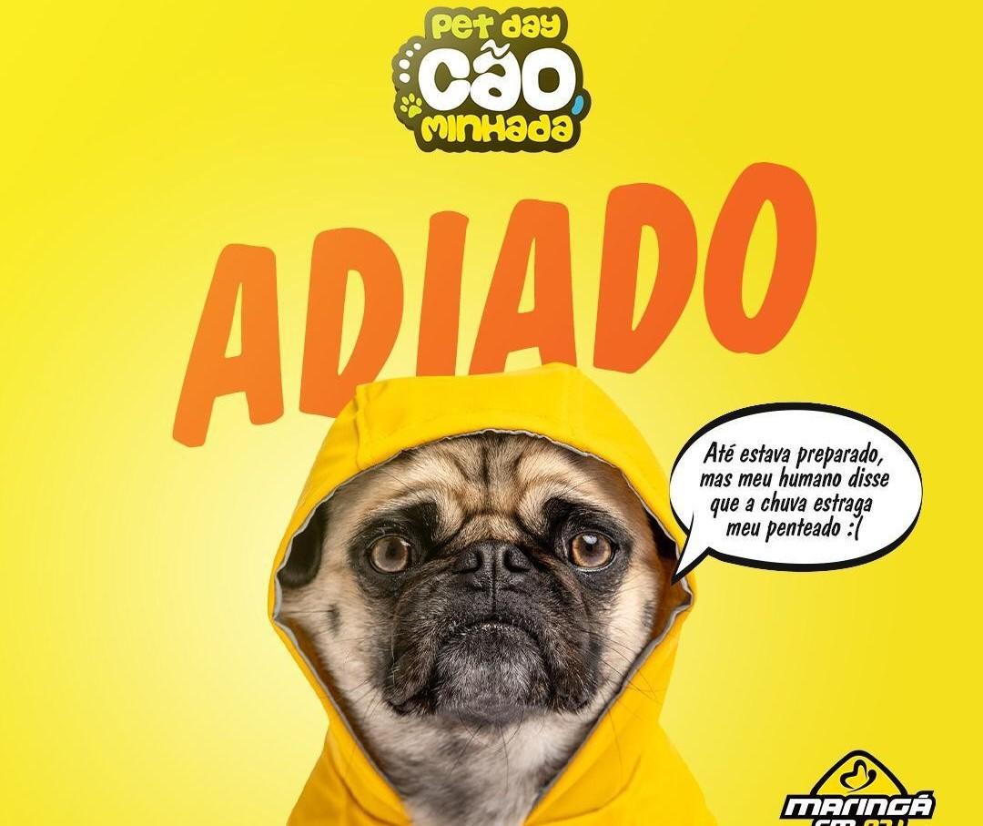Petday Cãominhada 2019 é adiado por causa da chuva