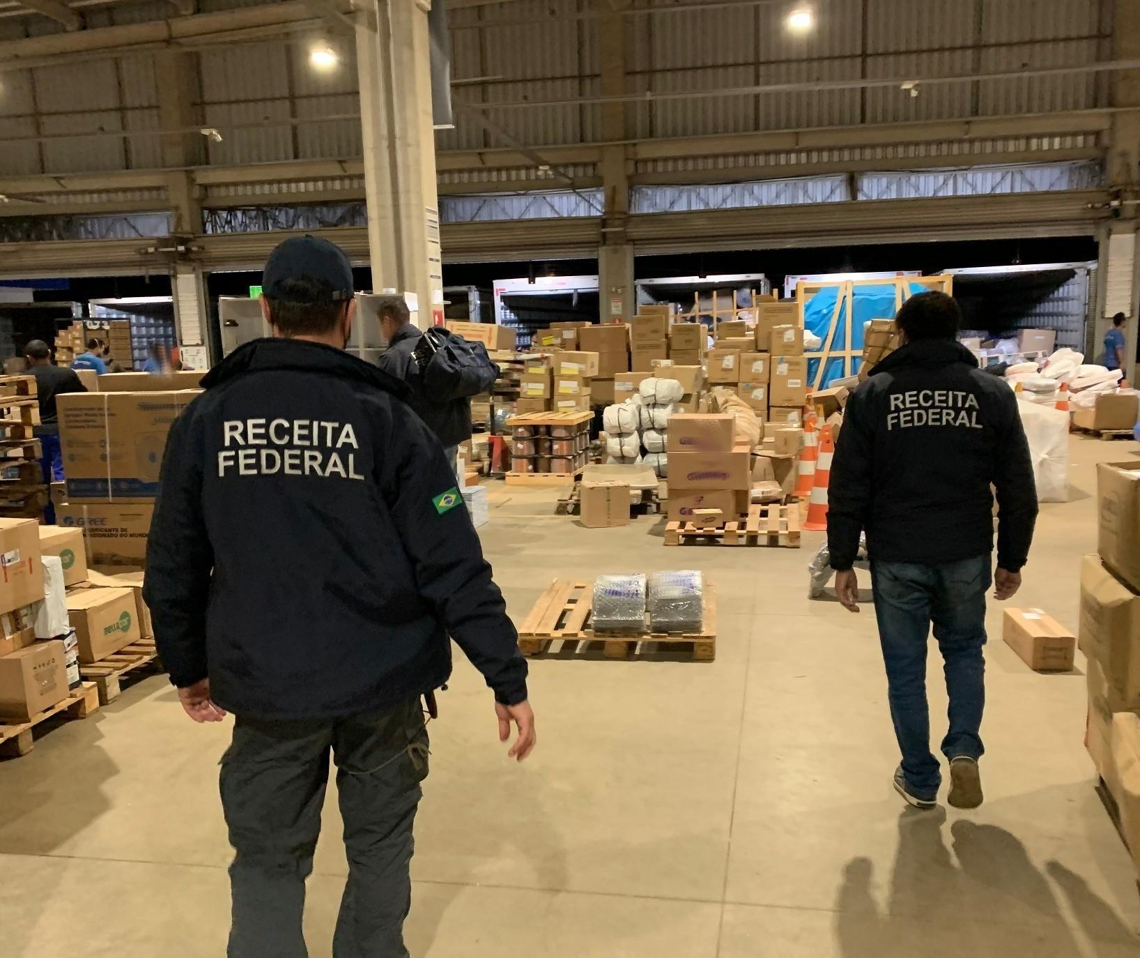 Receita Federal apreende R$ 5,5 mi em mercadorias contrabandeadas
