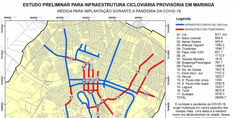 Associação propõe ciclovias móveis no combate à Covid-19 em Maringá
