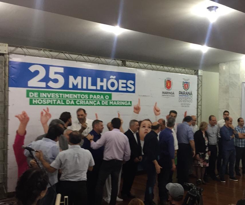 Governo do PR repassa R$ 25 milhões para Hospital da Criança
