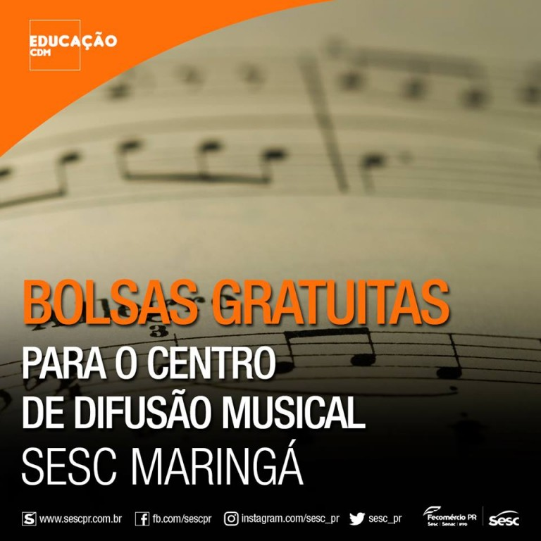 Abertas as inscrições para aulas de música no Sesc