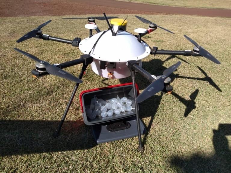 BRF testa drones para entrega de material genético