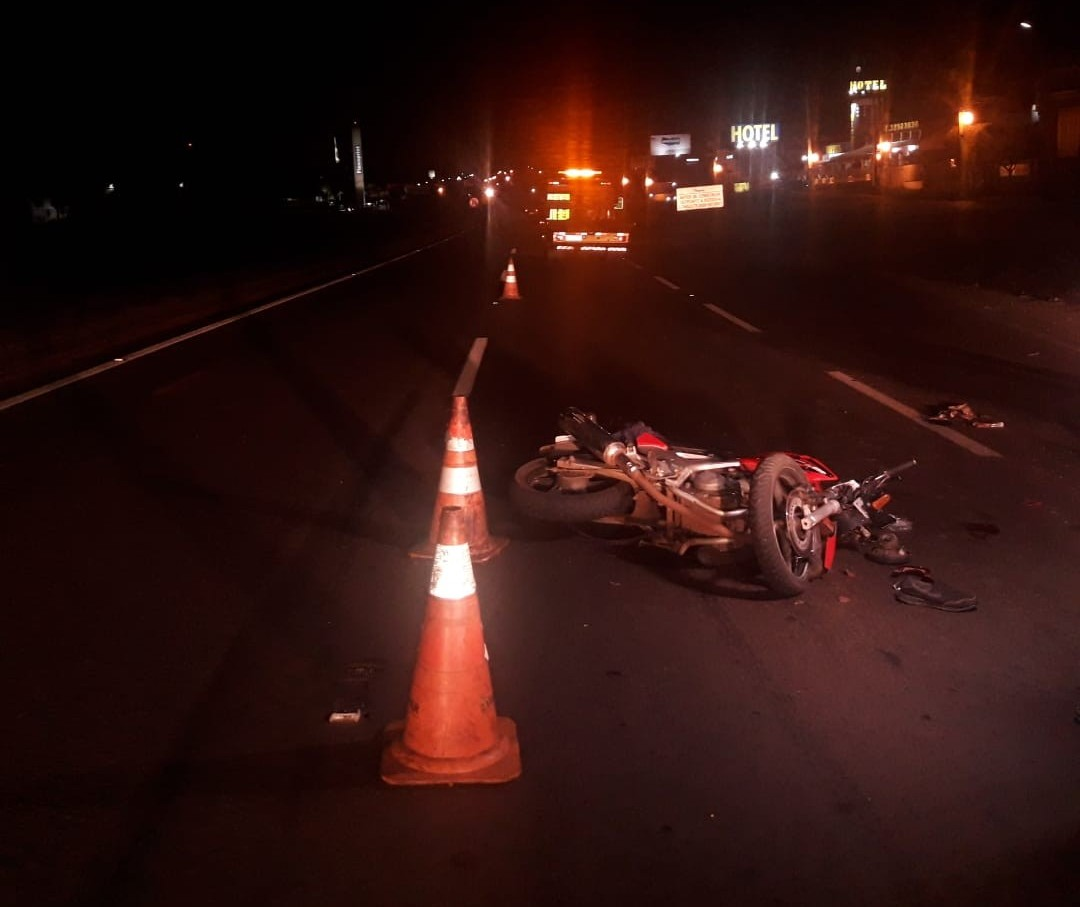 Acidente deixa motorista gravemente ferido na BR-376